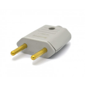 Plug 2 Polos Cinza 10A/250V - 003E - Enerbras
