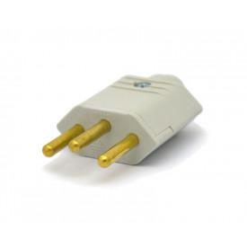 Plug 2P+T 10A/250V Cinza - PLD1-3 - Margirius