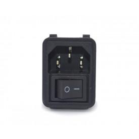 Plug com 3 Pinos A/C com Interruptor - JL48049 - Jiali