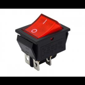 Interruptor de Tecla Plástica Bipolar KCD4-201N 16A 250V  LIGA/DESLIGA  - Vermelho
