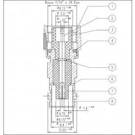 Adaptador de Conversão TNC Macho X BNC Fêmea - KLC-015 - Gav 65 - KLC