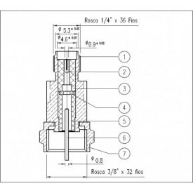 Adaptador de Conversão SMA Fêmea X F Macho - KLC-044 - Gav 47 - KLC