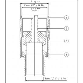 Conector UHF Macho Reto Prensa cabo RG 213 - KM-1 - Gav 41 - KLC