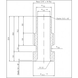Redutor UHF para cabo RG 58 (23,40MM) - KM-2R - Gav 44 - KLC