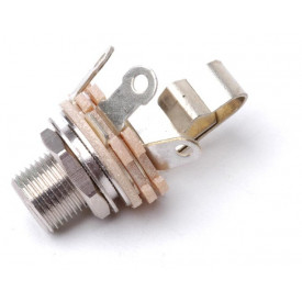 "Jack J10 Mono Switchcraft 1/4"" com rosca longa circuito fechado L12A - Cód. 10B040"