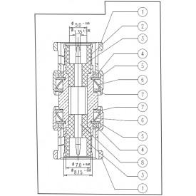 Adaptador BNC 50 OHMS Macho X Macho Reto - LA-2 - Gav 10 - KLC