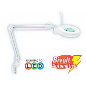 Lupa com Luminária LED Solver HL-500 LED 5x - Bivolt
