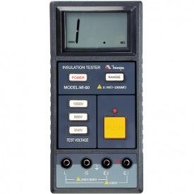 Megômetro MI-60 realiza medida de resistência de isolação até 2000M ohms - Minipa