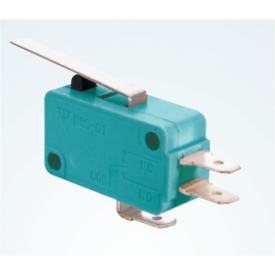 Chave Micro Switch com Alavanca de 27mm SPDT ON-(ON) 16A 125/250VAC - MSW-02A - Jietong
