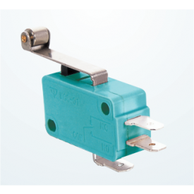 Chave Micro Switch com Alavanca de 25mm e Roldana SPDT ON-(ON) 16A 125/250VAC - MSW-03A - Jietong