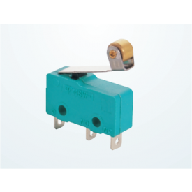 Chave Micro Switch com Alavanca de 15mm e Roldana SPDT ON-(ON) 3A 125/250VAC - MSW-13B - Jietong