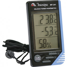 Termo Higrômetro MT-241 - Temperatura int. e ext. e umidade relativa. - Minipa