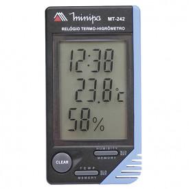 Termo Higrômetro MT-242 - Temperatura e umidade relativa do ambiente. - Minipa