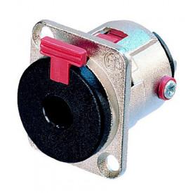 Conector Jack de painel fêmea de 3 pólos para plugue P10 mono ou estéreo NJ3FP6C - Neutrik