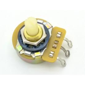 Potenciômetro CTS 24mm Log A10K Ω eixo plástico estriado com 9mm