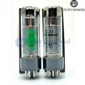 Par Casado da Válvula EL34EH 6CA7 Pentodo de Potência Electro-Harmonix