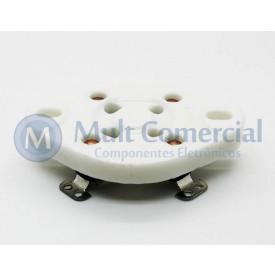 Soquete para Válvula de 4 Pinos Cerâmico (Solda Fio) - 4PIN