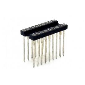 Soquete torneado CPW18 wire wrap 17,9mm 18 pinos - Cód. Loja 2390