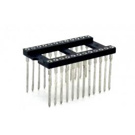 Soquete torneado CPW24 wire wrap 17,9mm 24 pinos - Cód. Loja 470 E 471