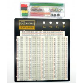 Protoboard 3220 pontos com kit de Jumpers EIC-108 165-41-1080 - E.I.C.