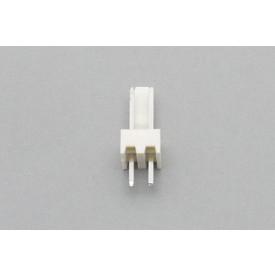 Conector KK JS-6001-02 Macho 180º passo 2.54mm 2 vias