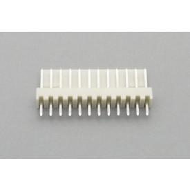 Conector KK JS-6001-11 Macho 180º passo 2.54mm 11 vias