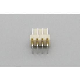 Conector KK JS-7001-04 Macho 90º passo 2.54mm 4 vias
