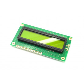 Display LCD 16x02 Verde sem Luz de Fundo (Back Light) WH-1602A-NYG-JT - Winstar