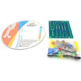 Kit Didático VU Bargraph para estudo básico de eletrônica ELZ0010/11
