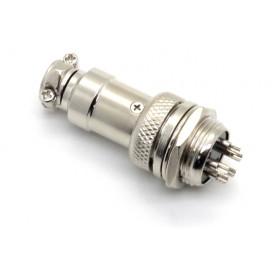 Conector Mike 5 Vias Macho para painel e Fêmea para cabo. JL33053/JL33054