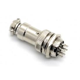 Conector Mike 8 Vias Macho para painel e Fêmea para cabo.  JL33053/JL33054