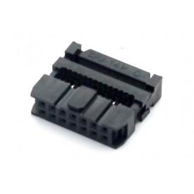 Conector para Flat Cable IDC com Aliviador de 14 vias 101-14TAK