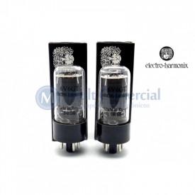Par Casado da Válvula 6V6GT Pentodo de Potência Electro-Harmonix