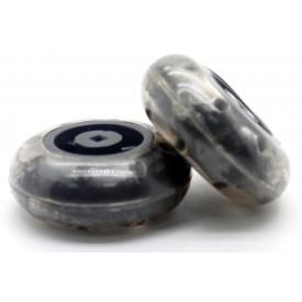 Roda de Borracha 49mm Embalagem com 2 Peças - Modelix