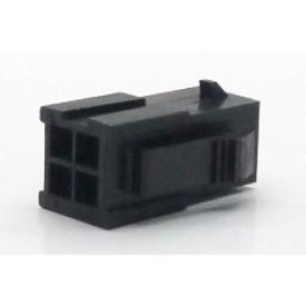 Alojamento Macho JS-3024-04 Micro fit passo 3.00mm 4 vias - 2x2