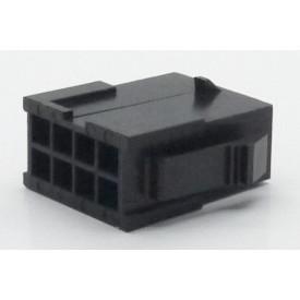 Alojamento Macho JS-3024-08 Micro fit passo 3.00mm 8 vias - 2x4