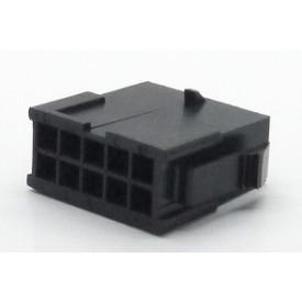 Alojamento Macho JS-3024-10 Micro fit passo 3.00mm 10 vias - 2x5