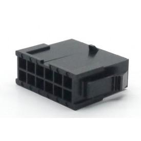 Alojamento Macho JS-3024-12 Micro fit passo 3.00mm 12 vias - 2x6