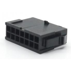 Alojamento Macho JS-3024-14 Micro fit passo 3.00mm 14 vias - 2x7
