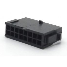 Alojamento Macho JS-3024-16 Micro fit passo 3.00mm 16 vias - 2x8
