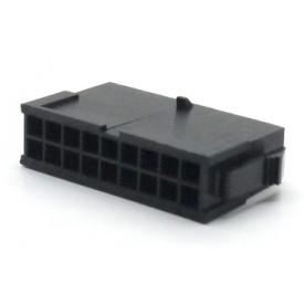 Alojamento Macho JS-3024-18 Micro fit passo 3.00mm 18 vias - 2x9