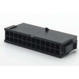 Alojamento Macho JS-3024-24 Micro fit passo 3.00mm 24 vias - 2x12