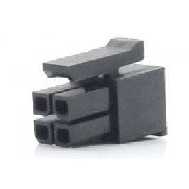 Alojamento Fêmea JS-3025-04 Micro fit passo 3.00mm 4 vias - 2x2