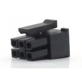 Alojamento Fêmea JS-3025-06 Micro fit passo 3.00mm 6 vias - 2x3