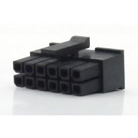 Alojamento Fêmea JS-3025-12 Micro fit passo 3.00mm 12 vias - 2x6