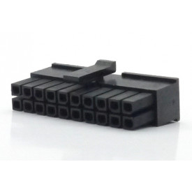 Alojamento Fêmea JS-3025-20 Micro fit passo 3.00mm 20 vias - 2x10