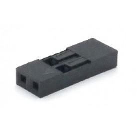 Alojamento Fêmea JS-1108-02 Modu Simples Passo 2.54mm com 2 vias
