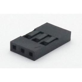 Alojamento Fêmea JS-1108-03 Modu Simples Passo 2.54mm com 3 vias