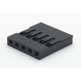 Alojamento Fêmea JS-1108-05 Modu Simples Passo 2.54mm com 5 vias