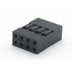 Alojamento Fêmea JS-1105-04x2 Modu Duplo Passo 2.54mm com 8 vias - 2x4